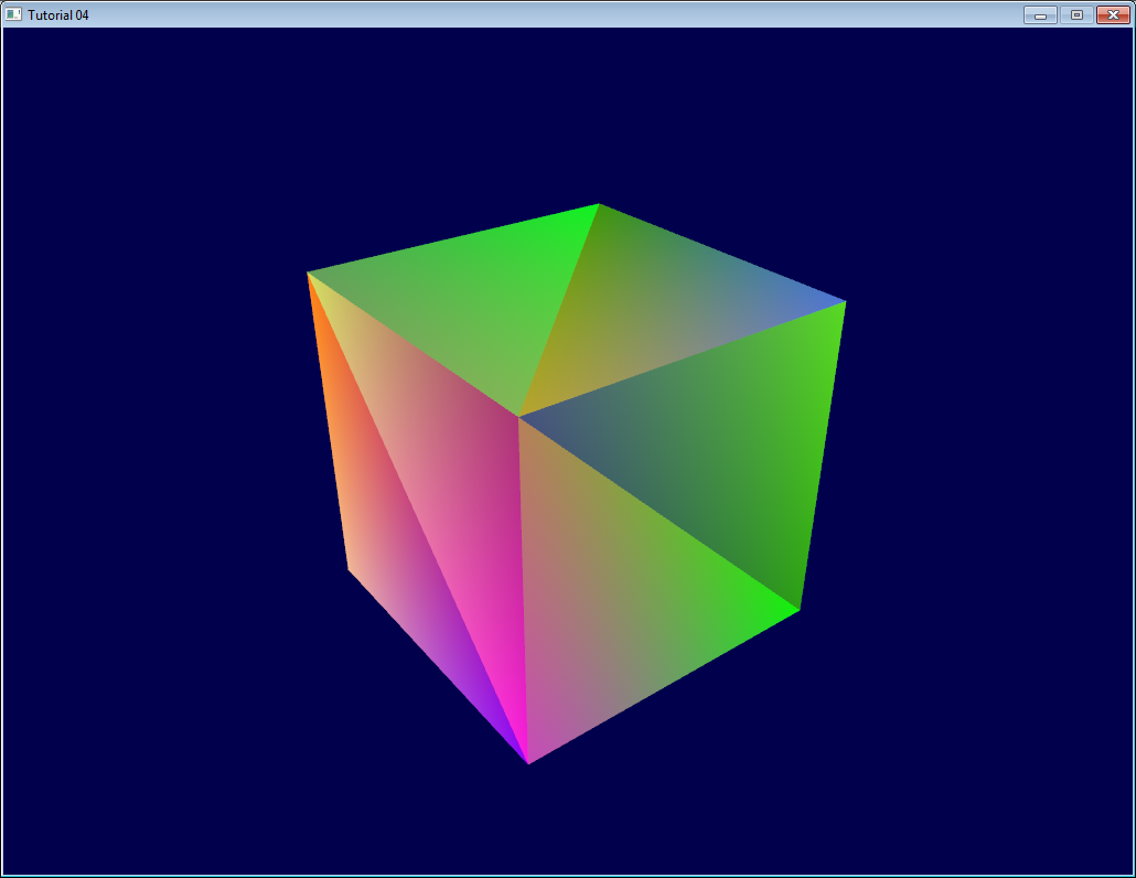 Tutorial 4 : A Colored Cube