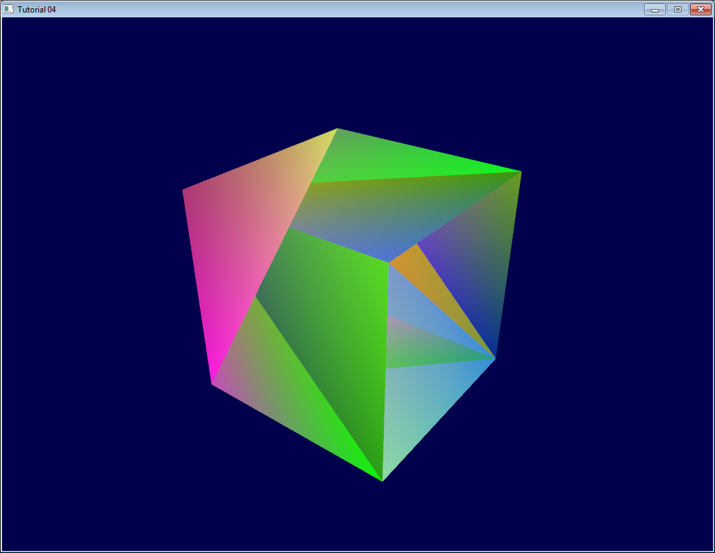 Tutorial 4 A Colored Cube